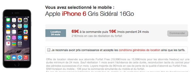 l 39 iphone 6 de 16 go en location chez free mobile igeneration. Black Bedroom Furniture Sets. Home Design Ideas