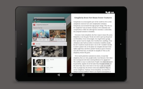 Google travaille sur un mode multi fen tre pour android for Multi fenetre android