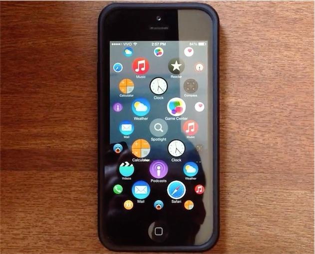 un iphone avec l 39 cran d 39 accueil de l 39 apple watch igeneration. Black Bedroom Furniture Sets. Home Design Ideas