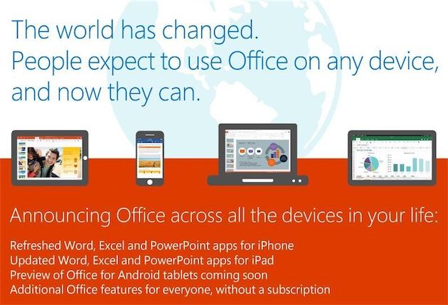 Microsoft office arrive sur iphone et android et devient gratuit igeneration - Office pour les enseignants gratuit ...