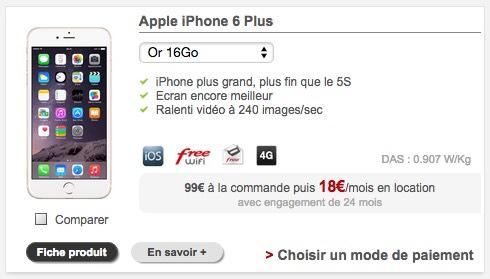 iphone 6 64 go chez free