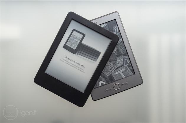 Le Kindle 6 (2014) et le Kindle 4 (2011). Le Kindle 5 (2012) n'était rien d'autre qu'un Kindle 4 avec un habillage noir et quelques nouveautés logicielles.