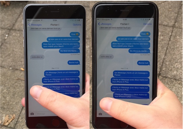 Que ce soit avec ou sans housse, l'iPhone 6 Plus ne se laisse pas dompter facilement