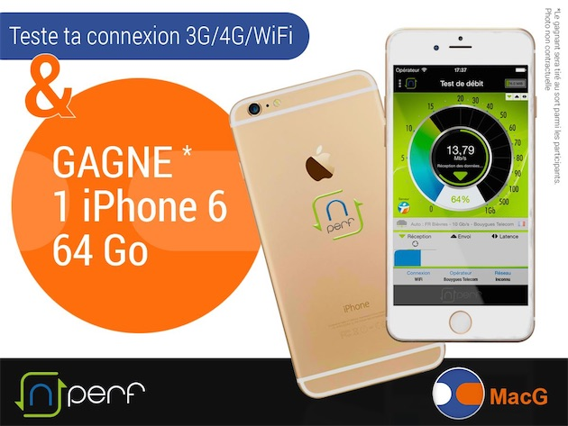 concours gagnez un iphone 6 64 go avec nperf m j. Black Bedroom Furniture Sets. Home Design Ideas