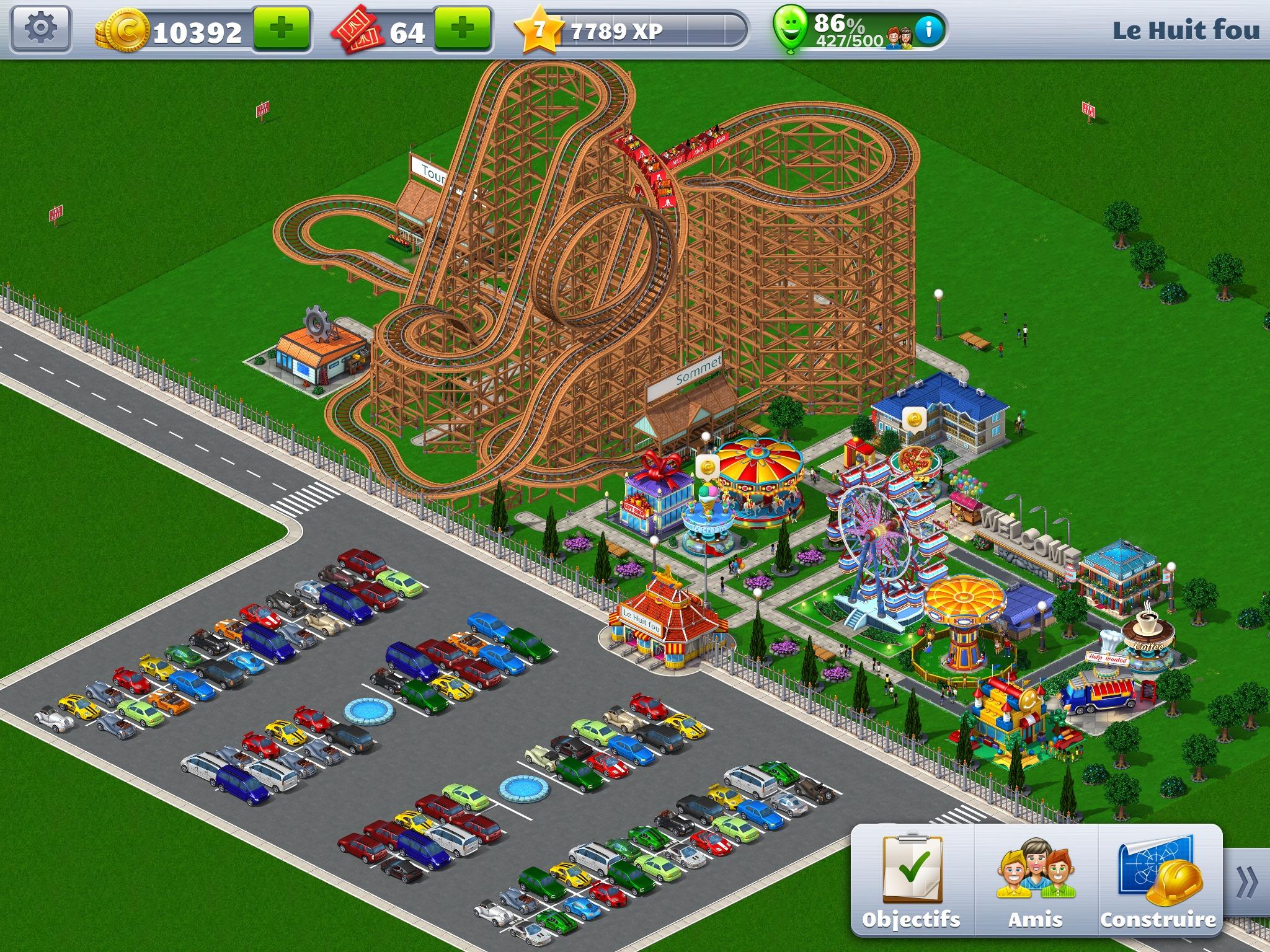 des montagnes russes pour roller coaster tycoon 3