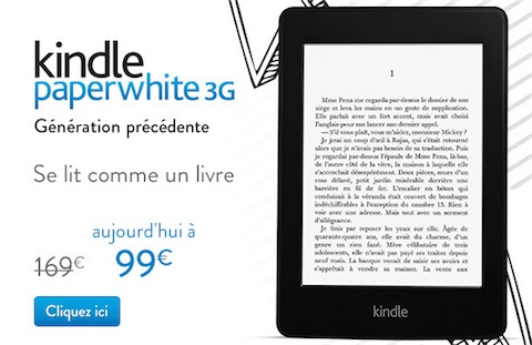 Amazon solde l'ancien Kindle PaperWhite 3G | iGeneration