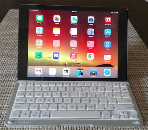 photos officielles fa206 90680 Un étui-clavier pour iPad Air signé Belkin | iGeneration