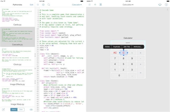 Pythonista 1 5 crée des graphiques et des interfaces | iGeneration