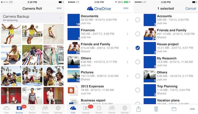 OneDrive et Google Drive se tirent la bourre sur iOS