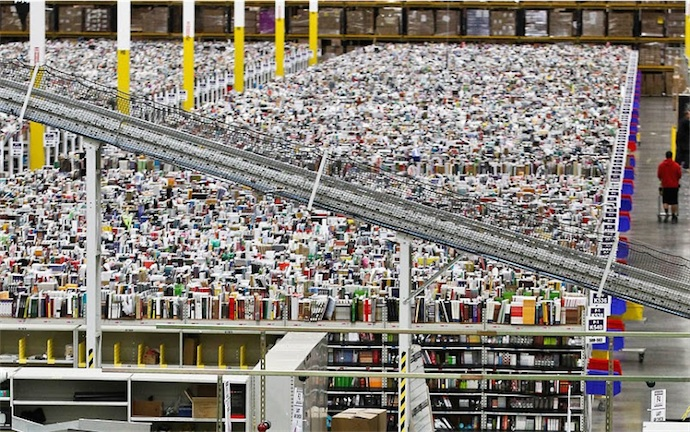 Un entrepôt Amazon. Image Amazon.