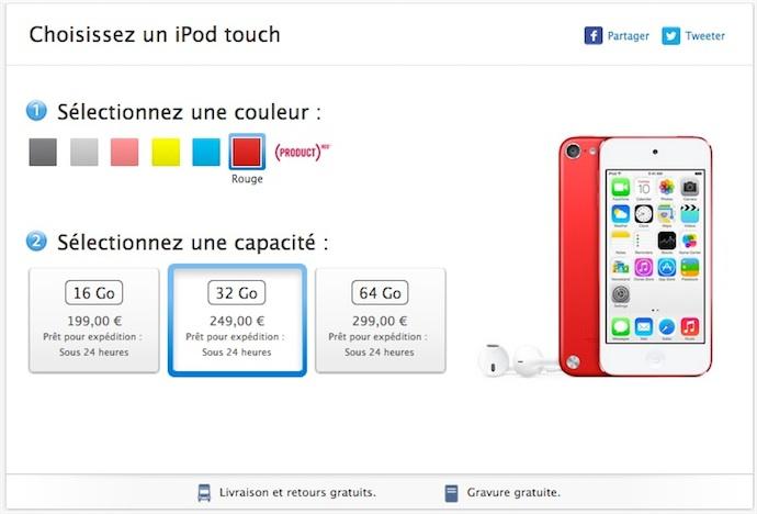 le nouvel ipod touch est en vente igeneration. Black Bedroom Furniture Sets. Home Design Ideas