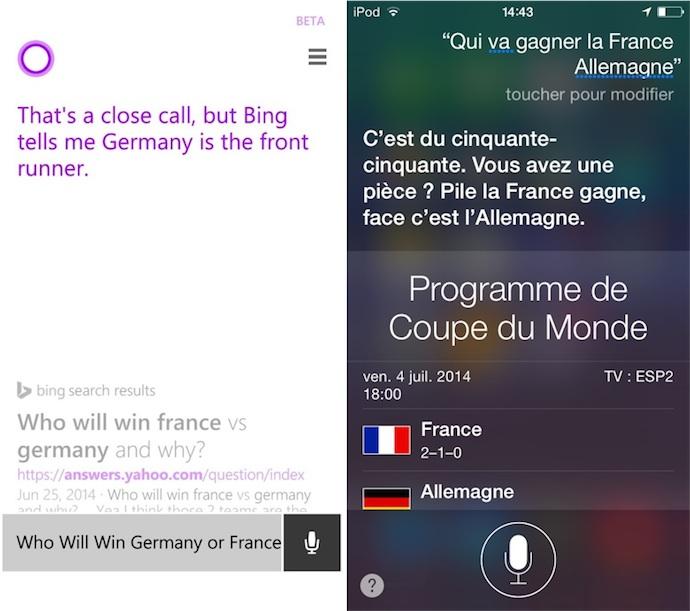 France V Allemagne Cortana Ou Siri Qui Sera Le Nouveau