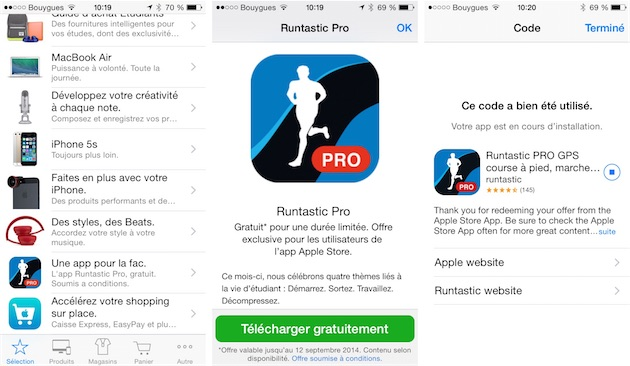 Apple promeut son application Apple Store en y offrant régulièrement des applications.