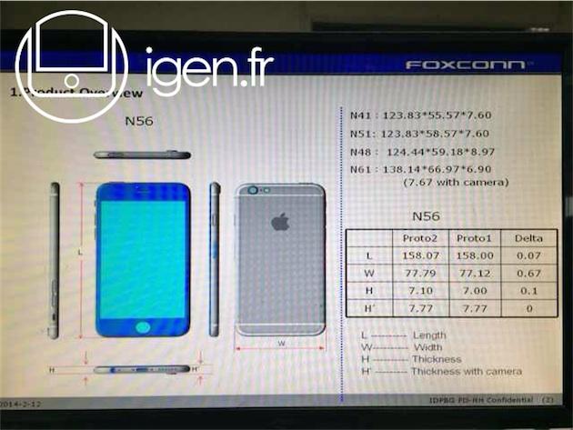 Dimensions, poids, design : les choix d'Apple pour l'iPhone 6 ...