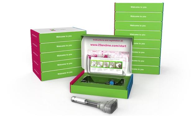 Le kit de prélèvement salivaire de 23andMe, société spécialisée dans le séquençage ADN fondée par Anne Wojcicki, la femme du co-fondateur de Google Sergey Brin. Il vaut moins de 100 $.