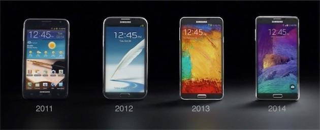 "Sorti en 2011, le premier Galaxy Note avait un écran de 5,3"""
