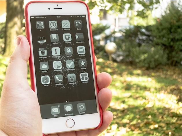 L'affichage en niveaux de gris, une nouveauté d'accessibilité d'iOS 8.