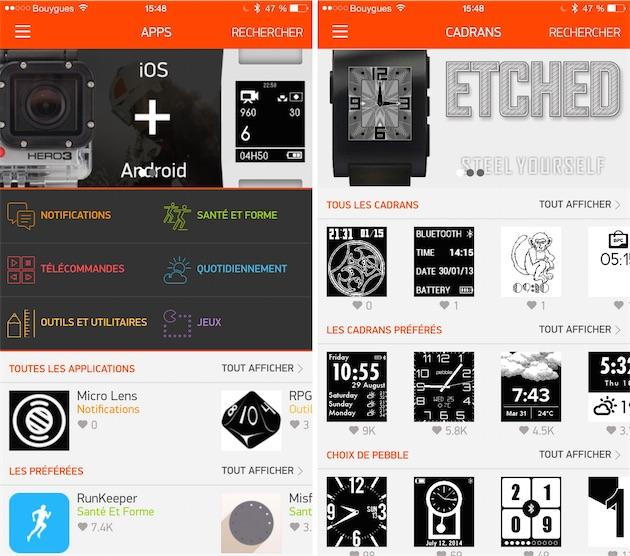 """L'App Store"" de la Pebble"