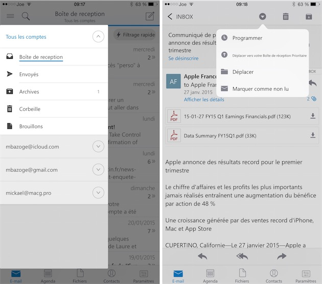 application pour gerer ses contacts iphone