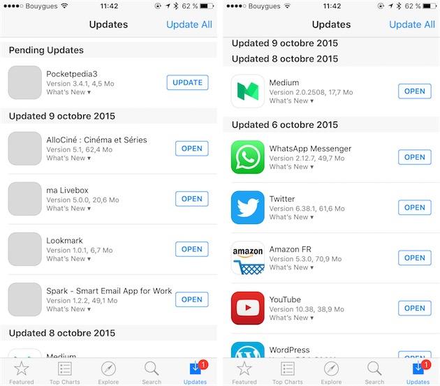 Des Icônes Grises Dans L'App Store ? C'est Normal