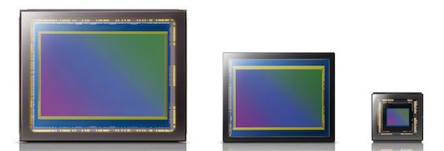 Quelques capteurs de Sony. Image Sony.