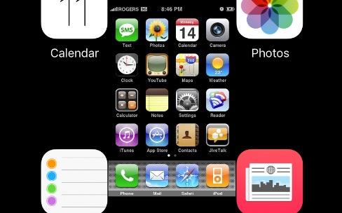 On peut caser le premier iPhone entre deux icônes sur l'iPadPro