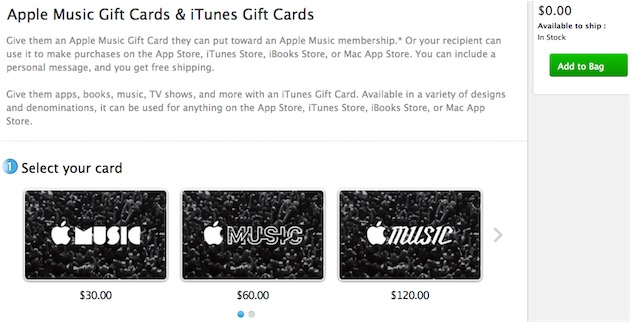 une carte cadeau apple music prochainement en vente maj igeneration. Black Bedroom Furniture Sets. Home Design Ideas