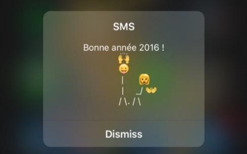 Les flash SMS changent de look dans iOS9.2