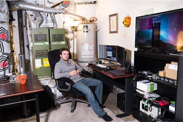 Le garage de Hotz - image : Peter Bohler / Bloomberg Businessweek