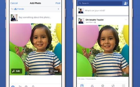 Facebook se prépare pour les Live Photos