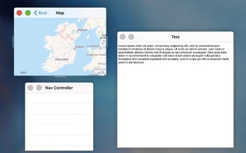 Plusieurs fenêtres redimensionnables à l'intérieur d'une app iPad