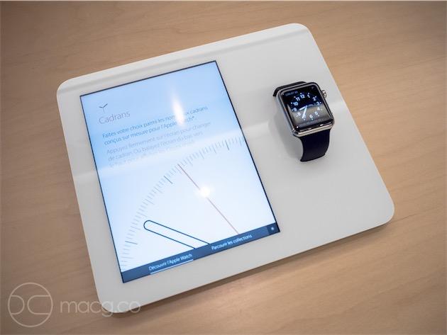 Un «socle Apple Watch».