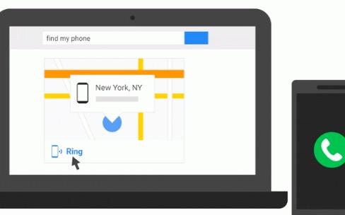 Le moteur de recherche de Google trouve les appareils Android perdus