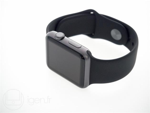 L'Apple Watch Sport gris sidéral.