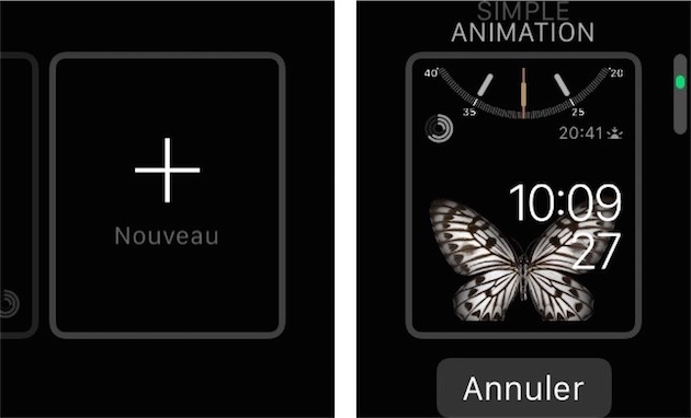 À droite de la galerie de cadrans, un bouton permet d'en ajouter de nouveaux. Utilisez la couronne digitale pour défiler dans la sélection d'Apple.
