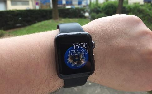 Astuce : couvrir l'écran de l'Apple Watch pour revenir au cadran