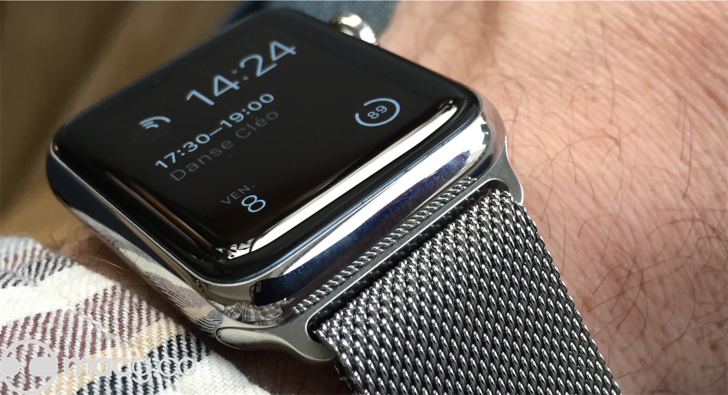 d ceptions avec le bracelet milanais de l 39 apple watch. Black Bedroom Furniture Sets. Home Design Ideas