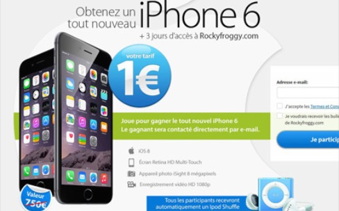 Attention à l'arnaque des iPhone 6 à 1 €