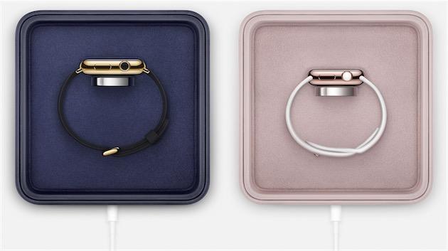 Le coffret de recharge de l'Apple Watch Edition.