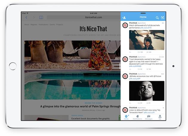 SlideOver, disponible sur les deux derniers iPad et les deux derniers iPad mini, permet d'afficher rapidement une deuxième app.