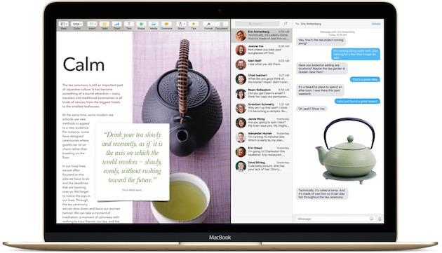 Le mode SplitView, qui permet d'afficher deux apps côte à côte en plein écran.