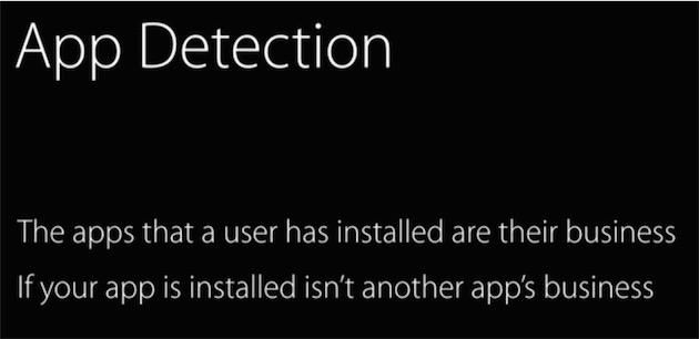 «Les applications installées par un utilisateur sont son affaire » : et celle d'Apple, qui a expliqué très calmement savoir combien d'applications étaient installées en moyenne sur chaque appareil, et comment ce nombre changeait selon la capacité des appareils. «Faites ce que je dis mais pas ce que je fais » doit être la devise de Tim Cook.