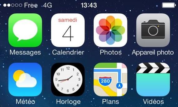 Free 4g sur iphone 5
