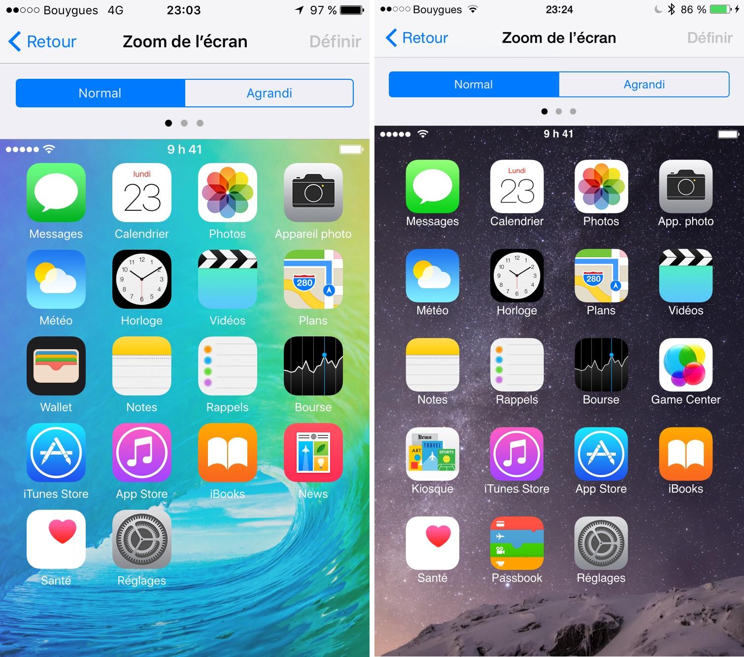 Ios 9b2 l application news fait une toute petite for Application miroir pour iphone