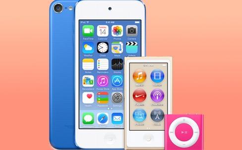 Des iPod de nouvelles couleurs dans iTunes 12.2