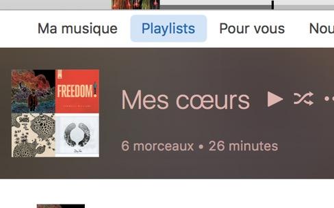 Astuce Apple Music : une playlist pour vos morceaux favoris