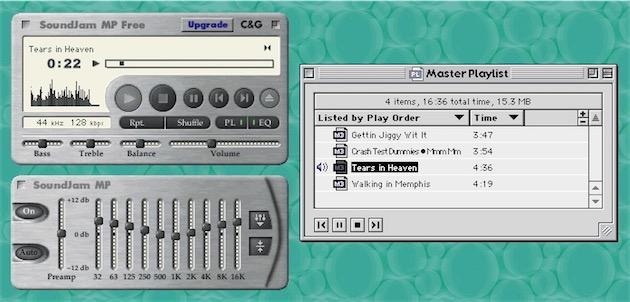 A la fin des années 90, on payait pour avoir un bon lecteur MP3 // SoundJam sous OS 9