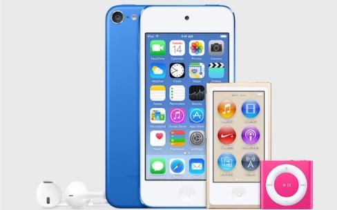 Les nouveaux iPod touch, shuffle et nano sont en vente