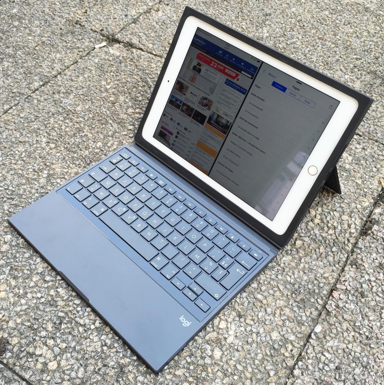 logitech test du block un pais tui clavier pour ipad. Black Bedroom Furniture Sets. Home Design Ideas