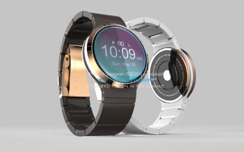 Orbis : la montre Samsung circulaire et son anneau rotatif en représentation